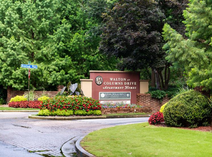 Gated Entrance at Walton at Columns Drive, Marietta, GA