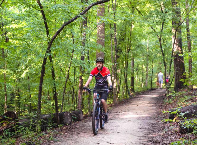 Biking trails at Walton at Columns Drive, Marietta