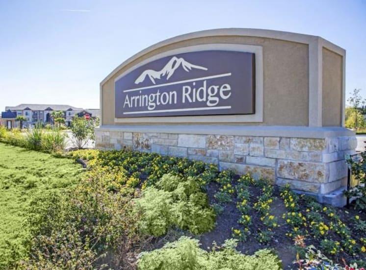 Front Entrance of Arrington Ridge at Round Rock, TX