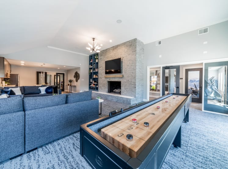 Game table in clubhouse at Governor Square Apartments, Carmel, IN