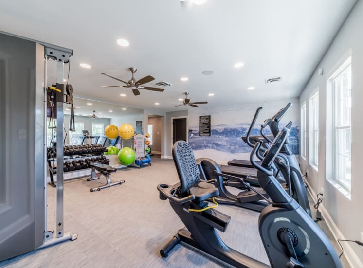Fitness center at Governor Square Apartments, Carmel, Indiana