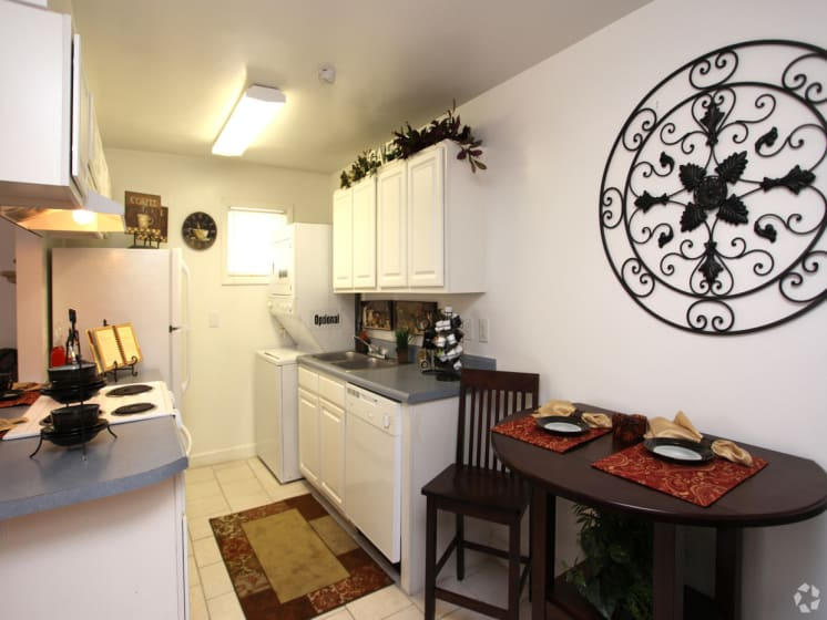 Kitchen View with Dining Area