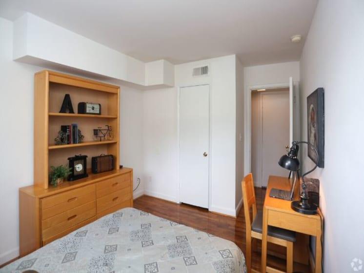 Second Bedroom Model - View of Closet and Bedroom Door
