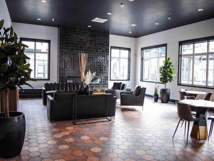 Modern Resident Lounge Area at Manor Way, Washington, 98204