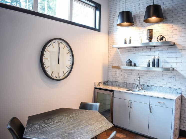 Complimentary Coffee Area at Manor Way, Washington, 98204
