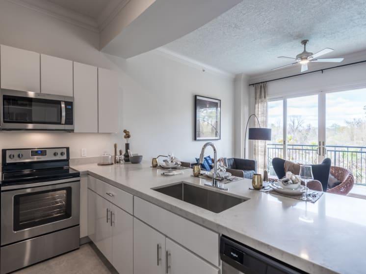 model kitchen apartments in downtown houston