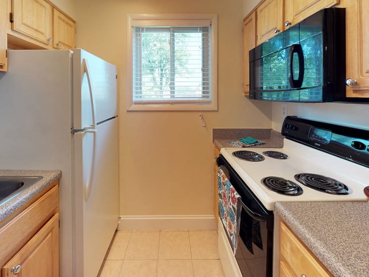 stove and other appliances with apartment unit