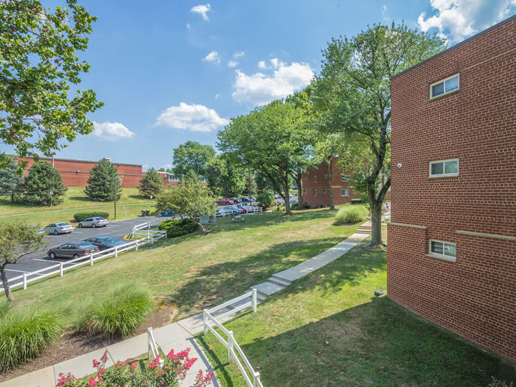 outdoor brick view of apartment complex