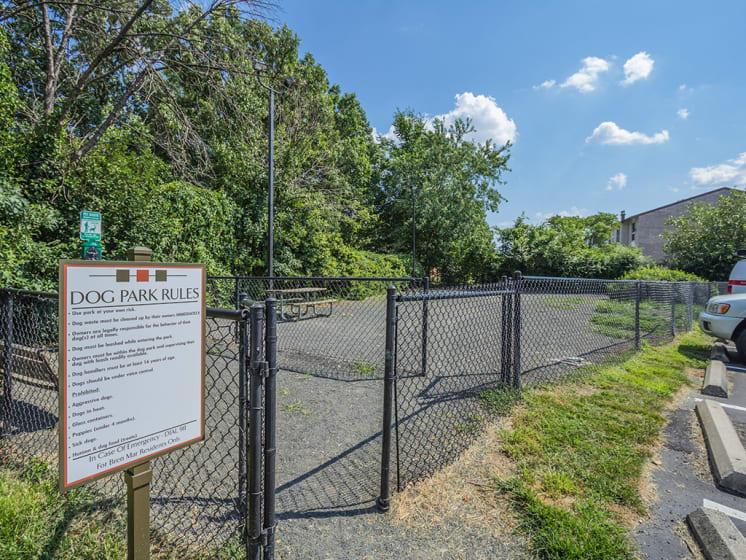 bren mar dog park for pet friendly complex