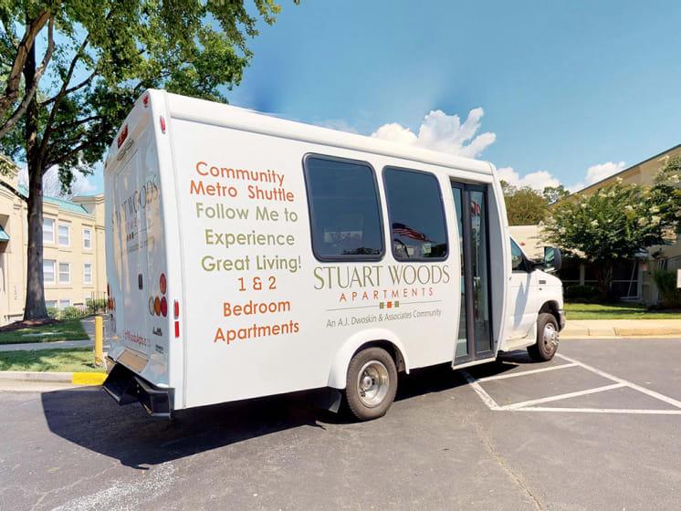 Community Shuttle Service at Stuart Woods, Virginia