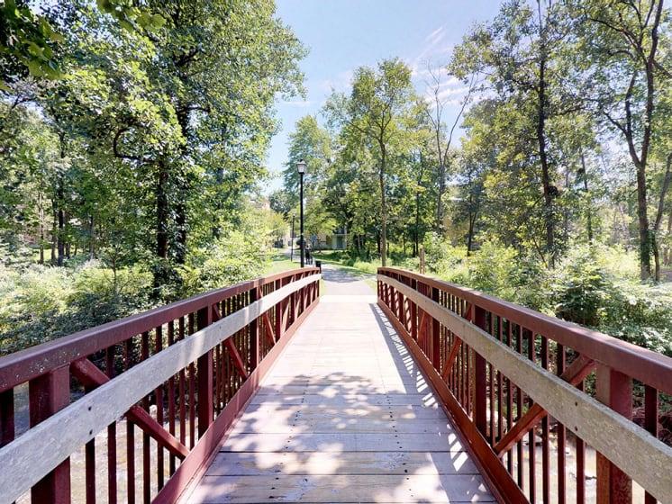 Bridge Walkway In Community at Stuart Woods, Virginia, 20170