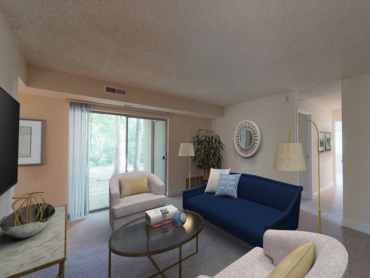 Classic Living Room at Stuart Woods, Herndon, VA