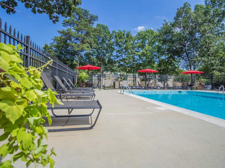 Refreshing Pool Side Area at Stuart Woods, Herndon, VA