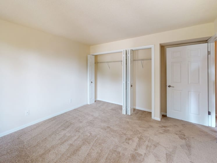 large bedroom area with ample closet space