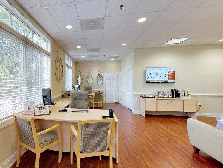 leasing office space at Woodlee Terrace Apartments, Woodbridge, VA