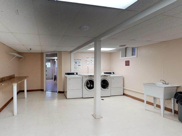 laundry facility area for residents at Woodlee Terrace Apartments, Virginia