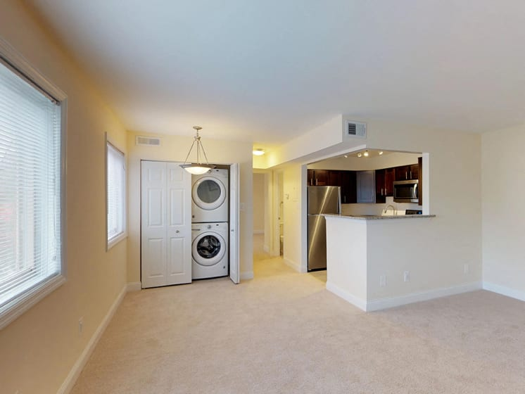 Kitchen With Laundry Area at Woodlee Terrace Apartments, Virginia, 22192