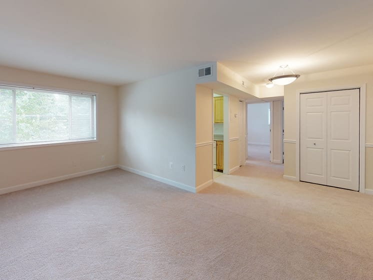spacious two bedroom apartment living room at Woodlee Terrace Apartments, Virginia