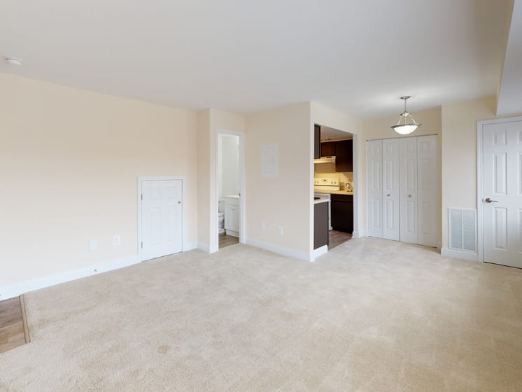 large room with opportunity for modern furniture placement at Gainsborough Court Apartments, Virginia, 22030