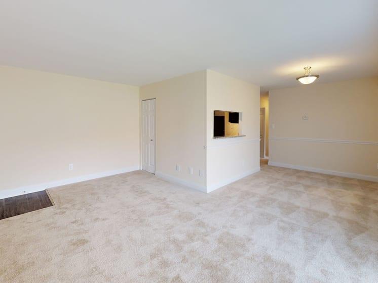 interior view of apartment unit with ample sunlight at Gainsborough Court Apartments, Fairfax, VA