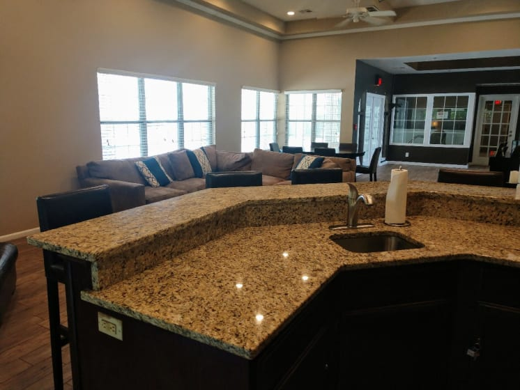 Beautiful Counter-top In The Clubhouse at Deer Run Apartments, Wisconsin, 53223