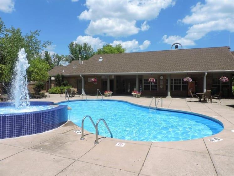 Relaxing Sparkling Swimming Pool at Deer Run Apartments, Brown Deer, WI