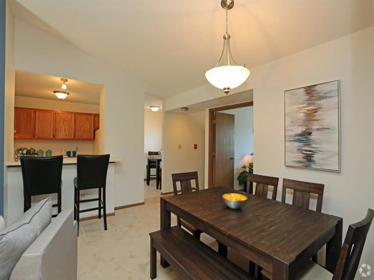 Eat-in Kitchen With Dinning Area at Deer Run Apartments, Brown Deer, Wisconsin