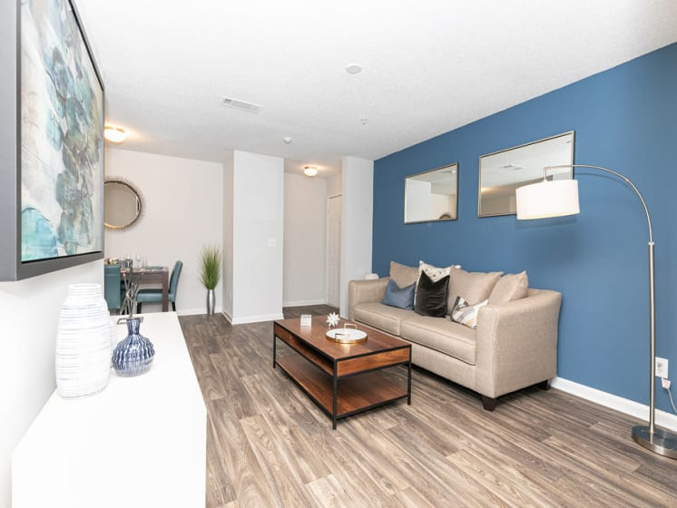 Living Room Interior at Tramore Village Apartment Homes, Austell