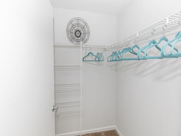 Large Walk-In Closets at Tramore Village Apartment Homes, Austell, GA