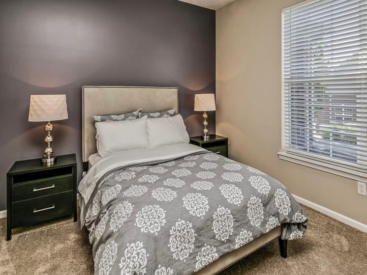 Beige Carpet in Bedroom at Landings Apartments, The, Bellevue