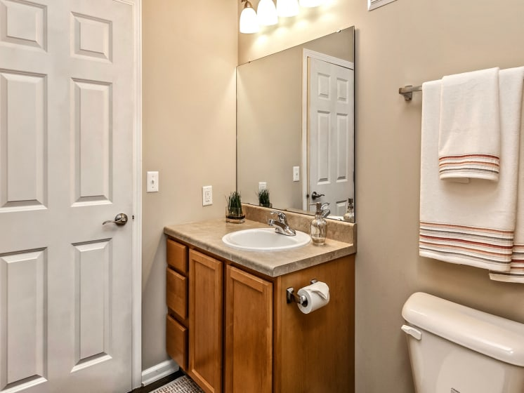 Custom Vanity Lighting at Landings Apartments, The, Nebraska, 68123