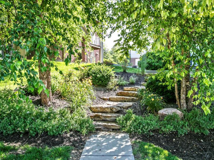 Beautiful Path at Landings Apartments, The, Bellevue, NE, 68123
