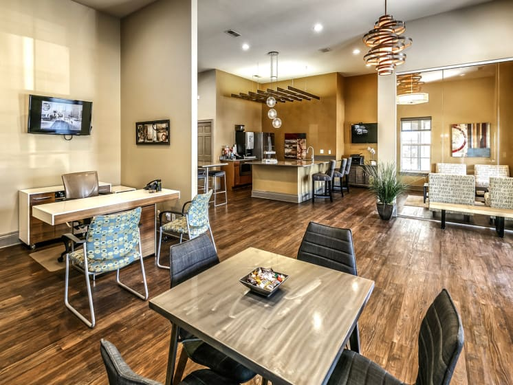 Newly Renovated Clubhouse at Landings Apartments, The, Bellevue