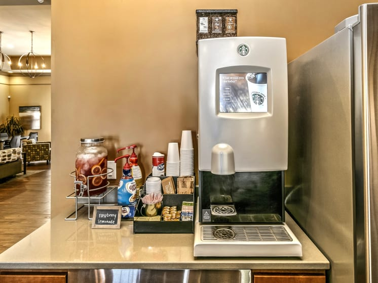 Coffee Bar and Hospitality Station at Landings Apartments, The, Bellevue, Nebraska
