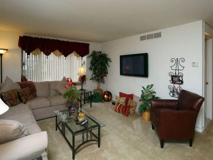 Comfortable Living Room at Dannybrook Apartments, New York