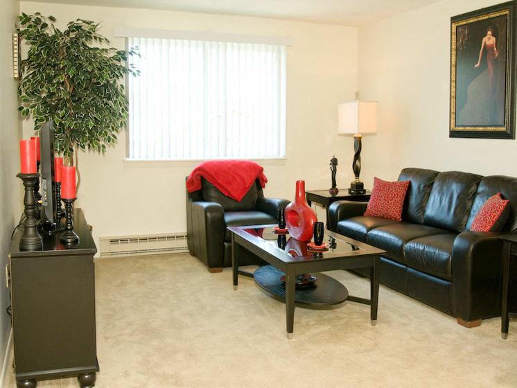 Bright Spacious Living Room at Bradford Manor Apartments, Hamlin, NY