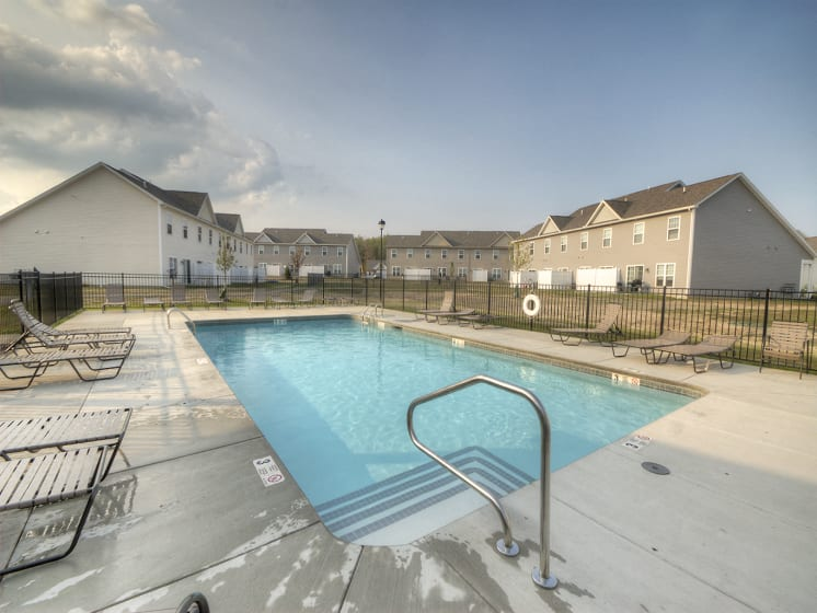 Pool Deck at Townhomes at Pleasant Meadows, Lancaster, NY 14086