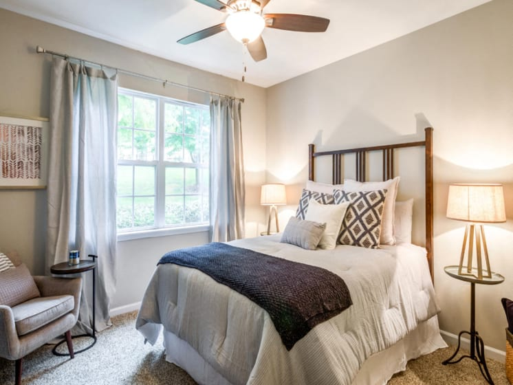 Renovated Bedroom, Riverstone at Owings Mills