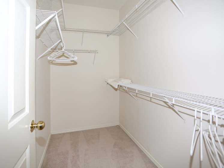 Walk-In Closet at Blueberry Hill Apartments, Rochester, NY
