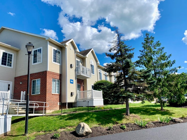 Outside View of Building at Blueberry Hill Apartments, Rochester, NY