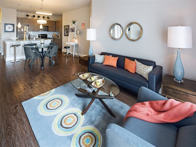 Wood Plank Flooring at The Edison Lofts Apartments, Raleigh