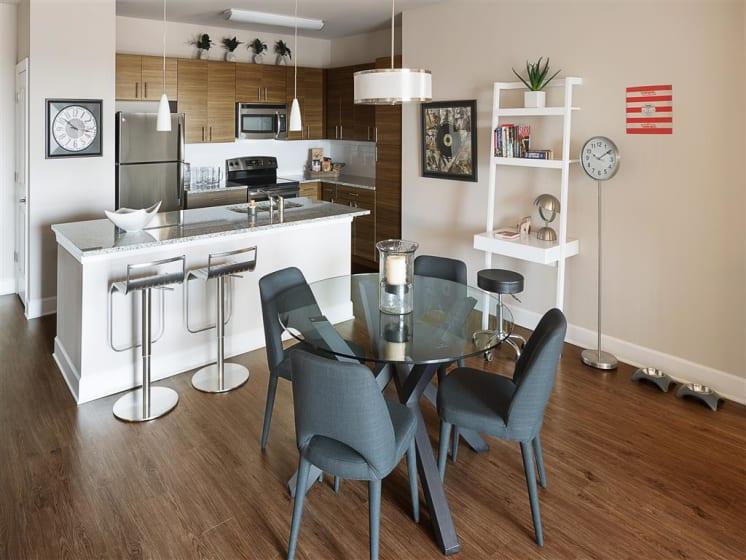 Eat-in Kitchen Table at The Edison Lofts Apartments, North Carolina, 27601