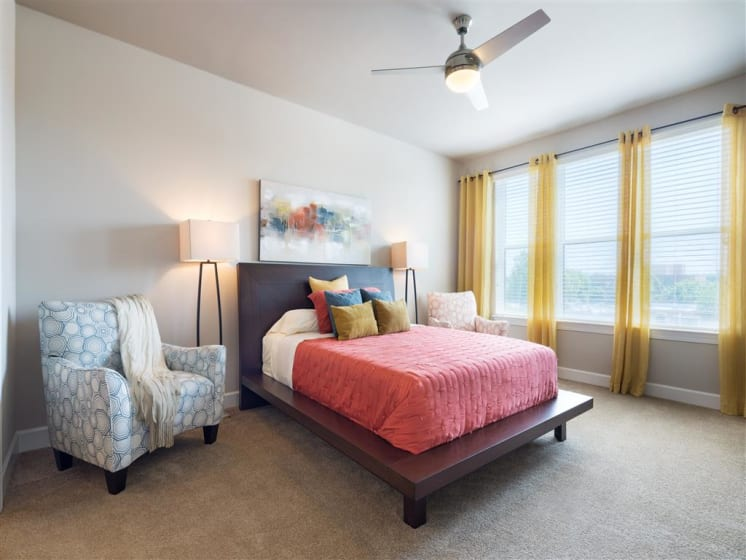 Bedrooms With Plenty Of Natural Light at The Edison Lofts Apartments, Raleigh, NC