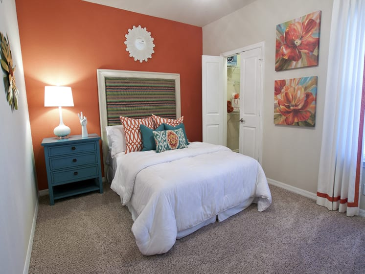 Live in cozy bedrooms at Phillips Mallard Creek Apartments, North Carolina