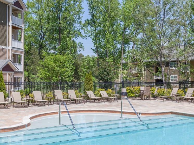 Resort-Style Pool at Phillips Mallard Creek Apartments, North Carolina 28262