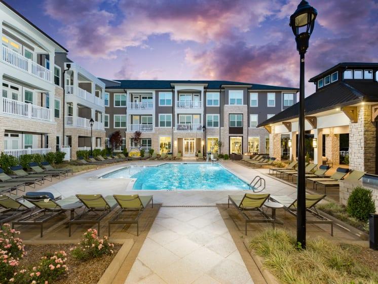 Resort-Style Pool at The Flats at Ballantyne Apartments, Charlotte
