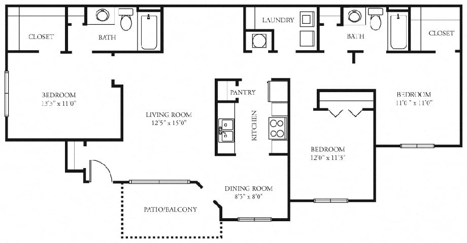 Tramore Floor Plan at Tramore Village Apartment Homes, Austell, 30106