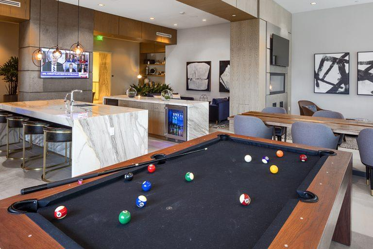 Billiards Table In Clubhouse at Two Lincoln Tower, Washington, 98004