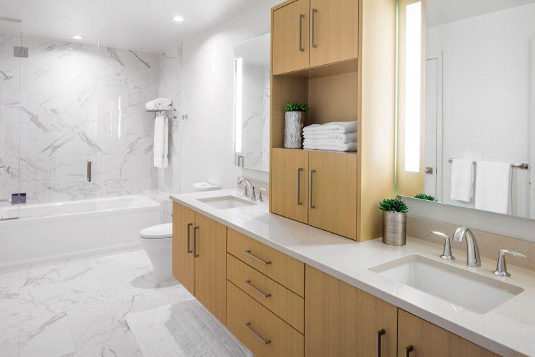 Luxurious Bathrooms at Two Lincoln Tower, Bellevue, WA