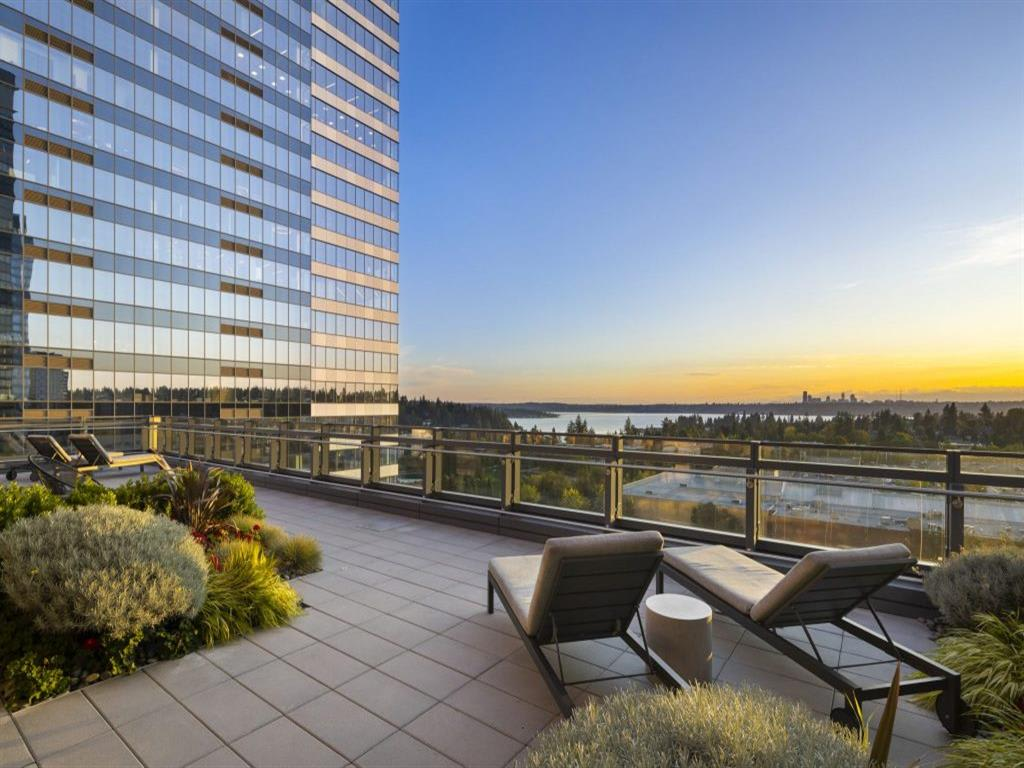 Rooftop Terrace Seating at Two Lincoln Tower, Washington